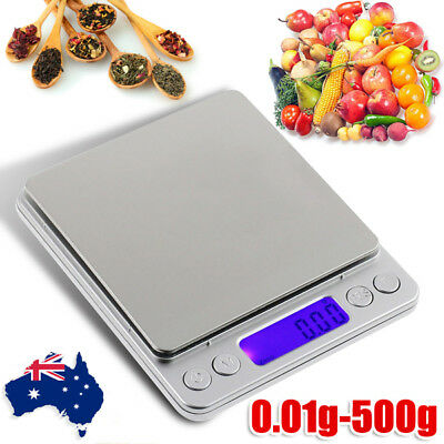 AU 0.01-500g Kitchen Food Scale Digital Electronic Balance Weight Postal Scales