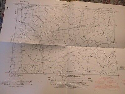 """Snave,newchurch:romney Marsh,kent Map 1932-49: 6"""" Scale Land Tax Register Use:os"""