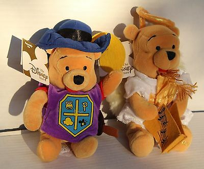 Nwt Disney Store Plush Doll Winnie The Pooh Musketeer Angel Music Christmas