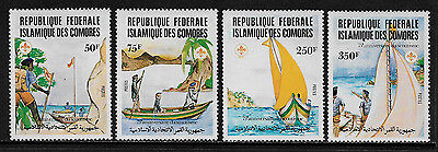 Comoro Is. #541-4 Mint Never Hinged Set - Scouting Year