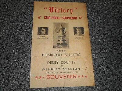 "CHARLTON ATHLETIC  v  DERBY COUNTY 1946 F A CUP FINAL ""VICTORY"" SCARCE ISSUE"