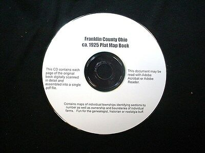 CD ~ ca.1925 Franklin County (Columbus) Ohio Plat Map Atlas