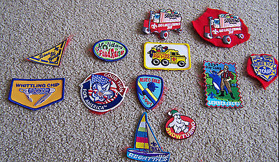12 vintage PATCHES Boy Scouts of America BSA 2007 CAMP TOURS BLUE GOLD IRON ON