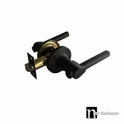 Matt Black Door Lever Handles Passage Set - Piper Series Handle (2333MB)