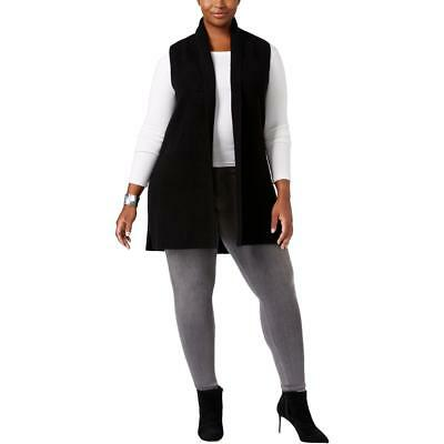Charter Club 7518 Womens Cashmere Open Front Shawl Collar Casual Vest Plus BHFO