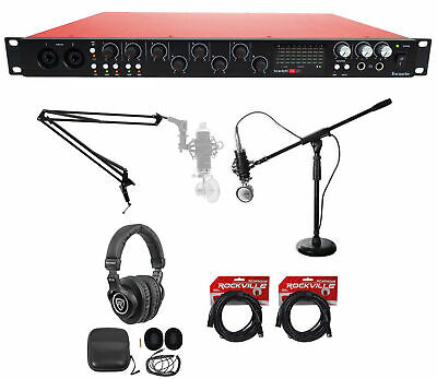 Focusrite SCARLETT 18I20 2nd G USB Audio Interface+Boom+Mic+Headphones+Cables