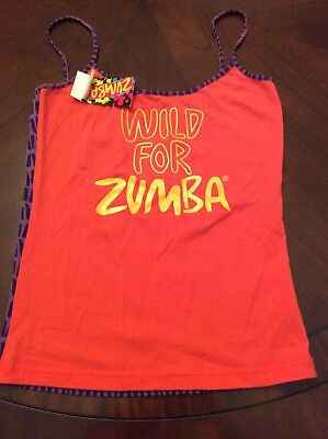 ZUMBA TANK THIN STRAPS SAYS WILD FOR ZUMBA ON FRONT Size Small