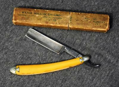 Herold Bros Cleveland Blue Steel Special Straight Razor w/Perry & Mason case