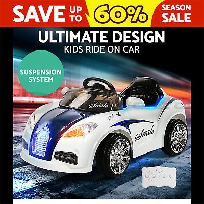 RIGO Kids Ride-On Car Bugatti Style Sports Electric Toys Battery 12V Remote Blue