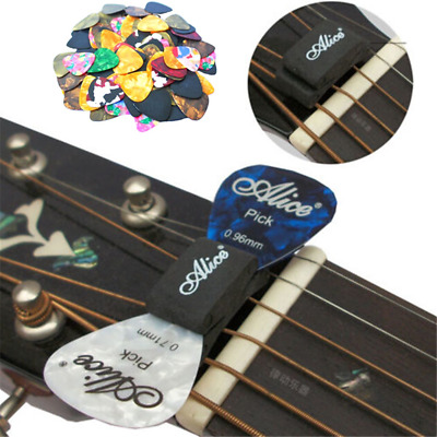 Celluloid Acoustic Electric Guitar Picks Plectrums Thin Clamp Key Capo Strings