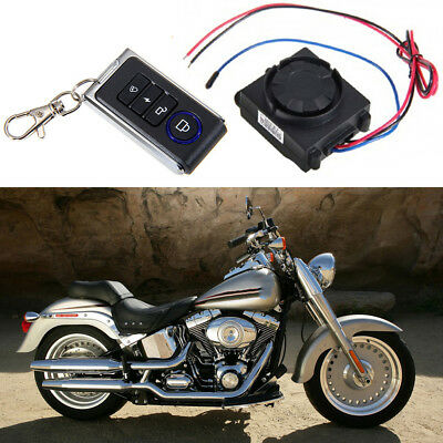 Motorcycle Bike Keyless Anti-theft Security Alarm System 1 Remote Control Kit