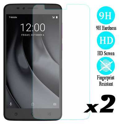 2 Pcs 9H Hardness Tempered Glass Screen Protector For T-mobile Revvl Plus