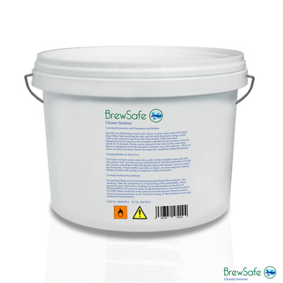 Brewsafe NO RINSE Home Brew Beer Wine Safe Cleaner 5Kg Tub Sodium Percarbonate