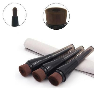 Black Concave Double-end Liquid Face Blush Brush Foundation Cosmetic Makeup Tool