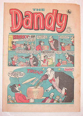 Vintage Dandy Comic No.1781 10th January, 1976 –42 years old! Top Birthday Gift!