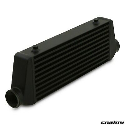 "2.5"" 65mm BLACK ALLOY UNIVERSAL CUSTOM KIT CAR FRONT MOUNT INTERCOOLER FMIC"