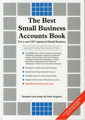 The Best Small Business Accounts Book (Blue version): For a non-VAT Registered .