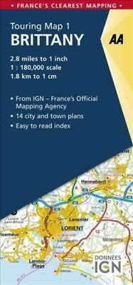 Aa Brittany Touring Map, AA Publishing, 9780749578992