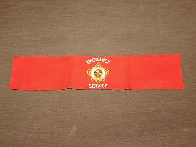 Vintage Bsa Boy Scouts Of America Emergency Service Arm Band