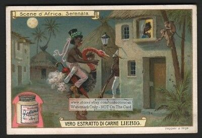 Serenade Of Fantasy - Racist African Art c1907 Trade Ad Card
