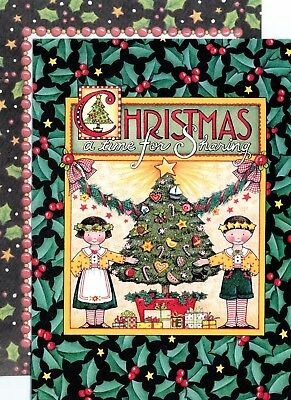 Mary Engelbreit-A TIME FOR SHARING CARING-Sunrise Vintage Christmas Tree Card