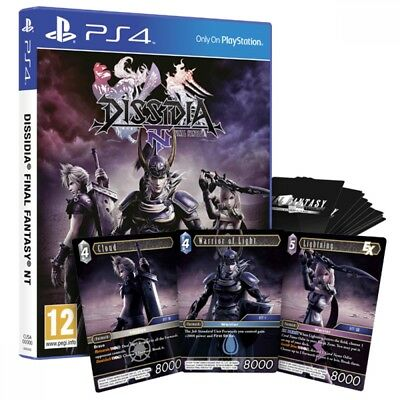 Dissidia Final Fantasy NT PS4 Game (Plus 3 Exclusive Trading Cards)