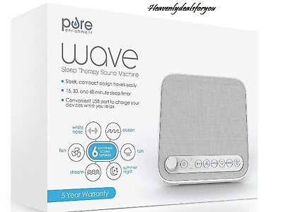 NIB sealed Pure Wave Sleep Therapy Sound Machine-6 Soothing Sound Settings