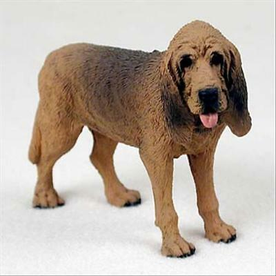 Bloodhound Dog Hand Painted Canine Collectable Figurine Statue