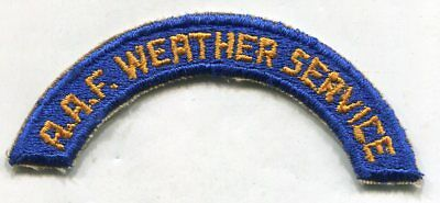 AAF WEATHER SERVICE - ORIGINAL WW2 Vintage US ARMY AIR FORCE TAB PATCH Cut Edge
