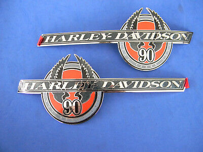 Harley Davidson 90th Anniversary GAS TANK EMBLEMS  1993 NEW w/original boxes