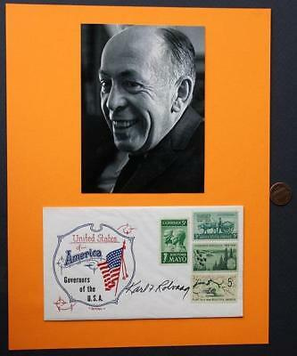 1963-67 Minnesota Governor Karl Rolvaag signed 1966 USA First Day Cover & photo!