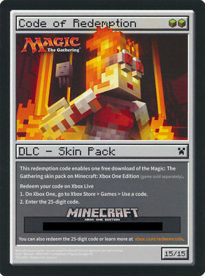 Minecraft MTG Magic the Gathering Xbox One DLC Skin Pack SEE DESCRIPTION!!