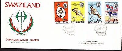 Swaziland 1970 Commonwealth Games First Day Cover Addressed