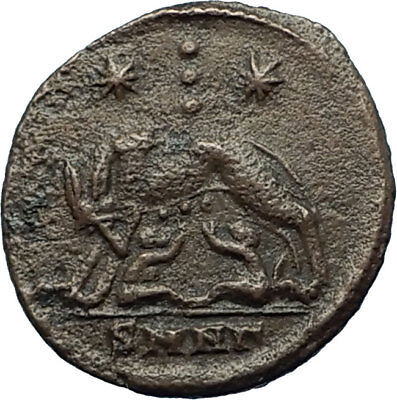 CONSTANTINE I the GREAT 330AD Romulus Remus WOLF Rome Ancient Roman Coin i66456