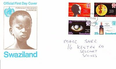 Swaziland 1976 Prevent Blindness  First Day Cover addressed
