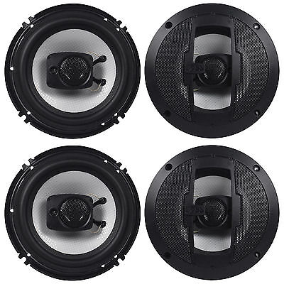 "(2) Pair Boss R63 6.5"" 600 Watt 4-Ohm 3-Way Coaxial Car Stereo Speakers"