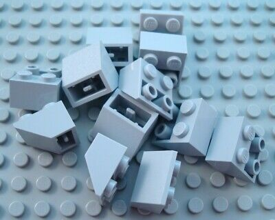 New LEGO Lot of 4 Dark Bluish Gray 4x2 Double Inverted Cockpit Slopes