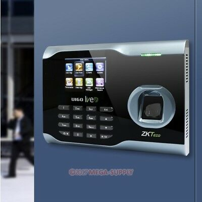 Fingerprint Attendance Time Clock + WIFI +TCP/IP For Track Employee Time NEW
