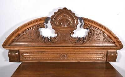 "36"" French Antique Pediment/Crest in Oak Wood"