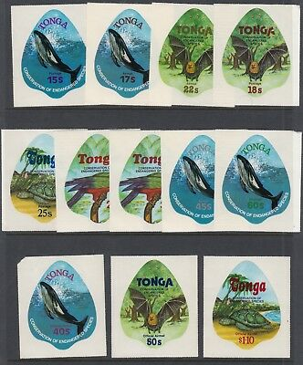 TONGA 1979 ENDANGERED WILDLIFE, set of 13 including Officials MNH