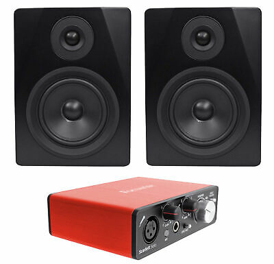 Focusrite SCARLETT SOLO 2nd G 192KHz USB 2.0 Audio Interface+(2) Studio Monitors