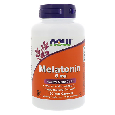 NOW FOODS Melatonina 5mg, 180 Caps