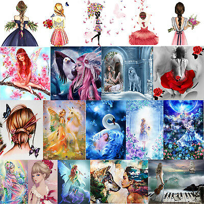 5D DIY Fairy Girl Series Diamond Painting Embroidery Cross Stitch Handwork Kits