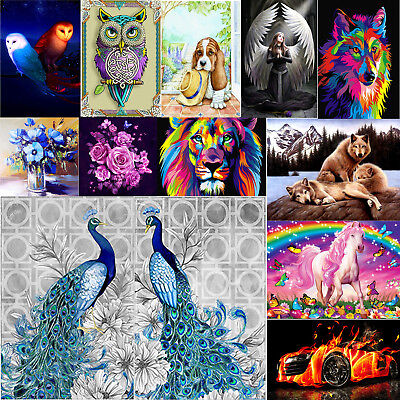 5D DIY Rainbow Horse Diamond Painting Embroidery Cross Stitch Mosaic Kits Crafts