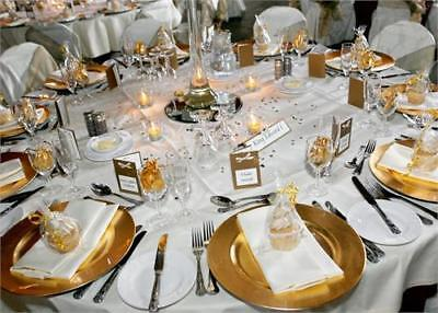 Set Of 148 Gold Round Charger Under Plates Place Setting Wedding Serving Platter