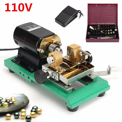 Pearl Drilling Holing Machine Beads Driller Full Set Jewelry Tools 110V 300W