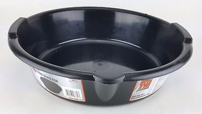 "7 Quart Round Oil Drain Pan Midwest Gas Can 13"" Diameter Drain Pour Spout"