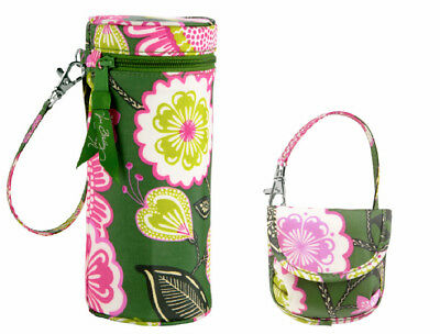 Nwt Vera Bradley Baby Olivia Pink Bottle Caddy & Pacifier Pod Bpa Free