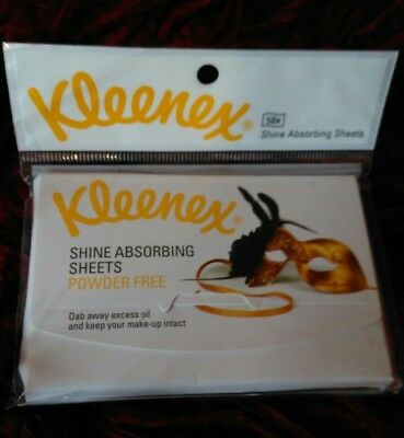 Last One!  Kleenex Shine Absorbing Sheets 1 Pack Of 50 Sheets