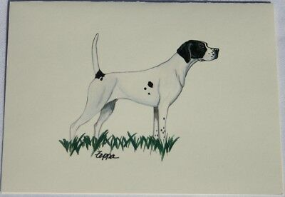 Pointer Dog Zeppa Studios Fur Children Note Cards Set of 8